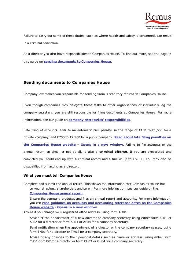 Model articles companies house