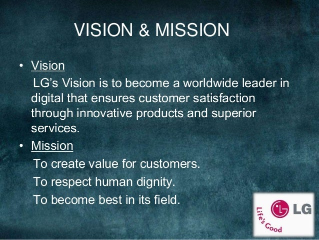 lg vision and mission