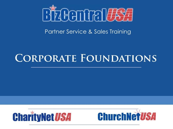 Partner Service & Sales Training<br />Corporate Foundations<br />