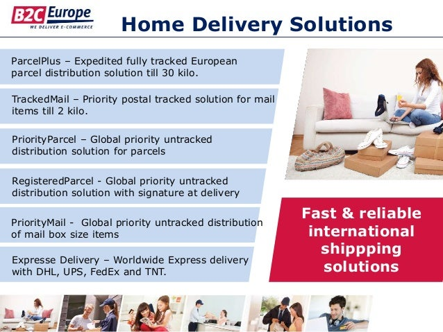 Home Delivery Solutions PriorityMail - Global priority untracked distribution of mail box size items RegisteredParcel - Gl...