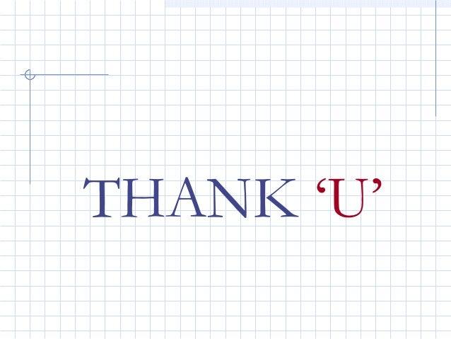 THANK 'U'