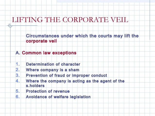 Company law capacity to sue and to be sued 5 lifting the corporate veil stopboris Gallery