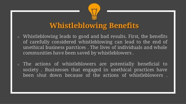 Why Being a Whistle-blowing Employee Is a Good Thing
