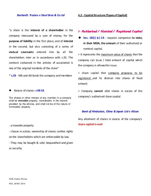malaysia company law share capital These rules may be called national company law tribunal (procedure for reduction of share capital of company) rules, 2016 and applicable from 15122016.