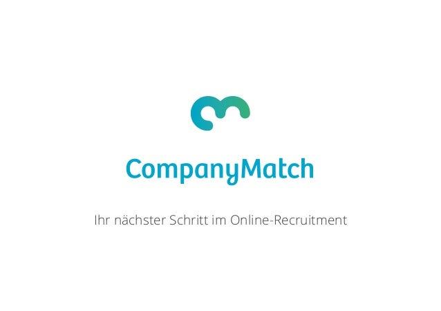 Ihr nächster Schritt im Online-Recruitment
