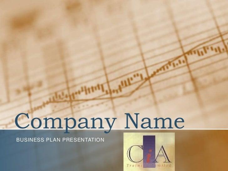 Company NameBUSINESS PLAN PRESENTATION
