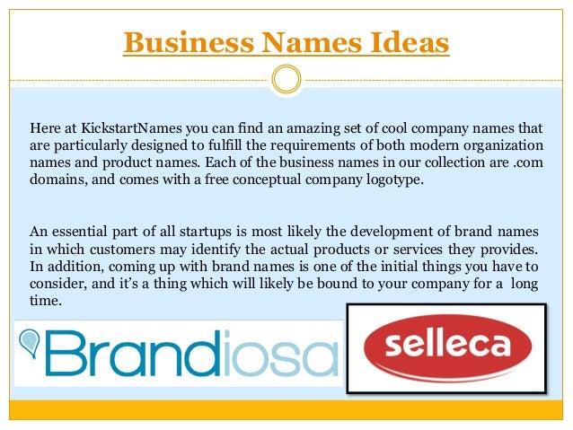 Company Name Ideas