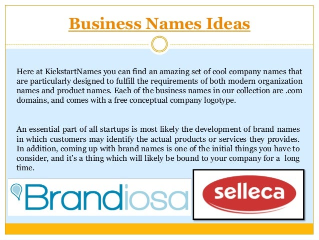 how to choose a good business name