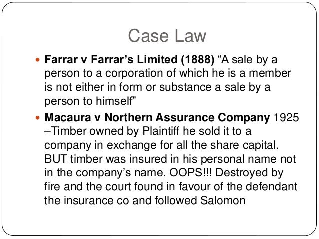 Company Law Piercing The Corporate Veil
