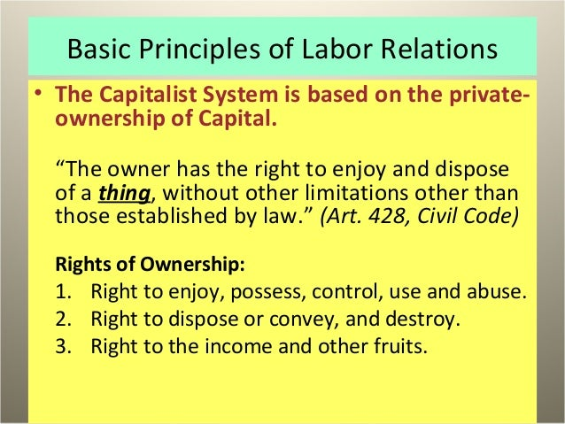 An analysis of capitalism as a system based on private control of capital