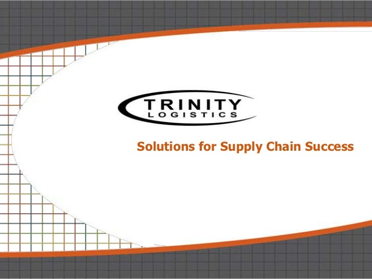 Solutions for Supply Chain Success