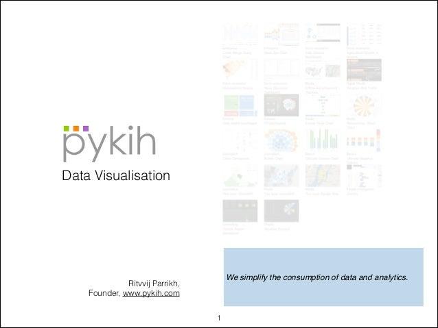 Data Visualisation  We simplify the consumption of data and analytics.  Ritvvij Parrikh, Founder, www.pykih.com !1