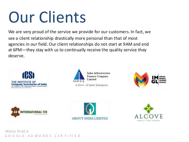 Our Clients We are very proud of the service we provide for our customers. In fact, we see a client relationship drastical...