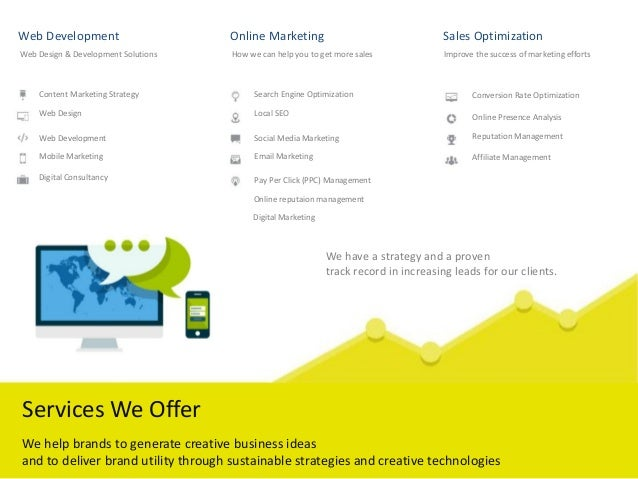 Web Development Online Marketing Sales Optimization Web Design & Development Solutions How we can help you to get more sal...