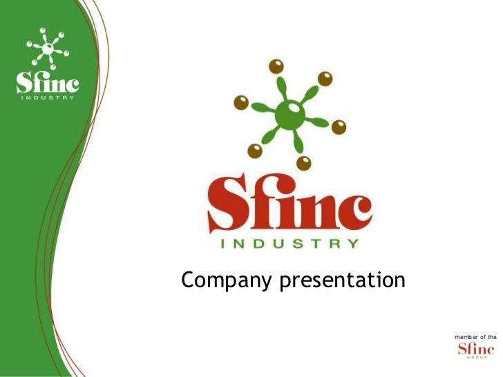Company presentation  member of the