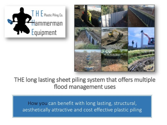 Company Presentation of the Uses of Plastic Piling In