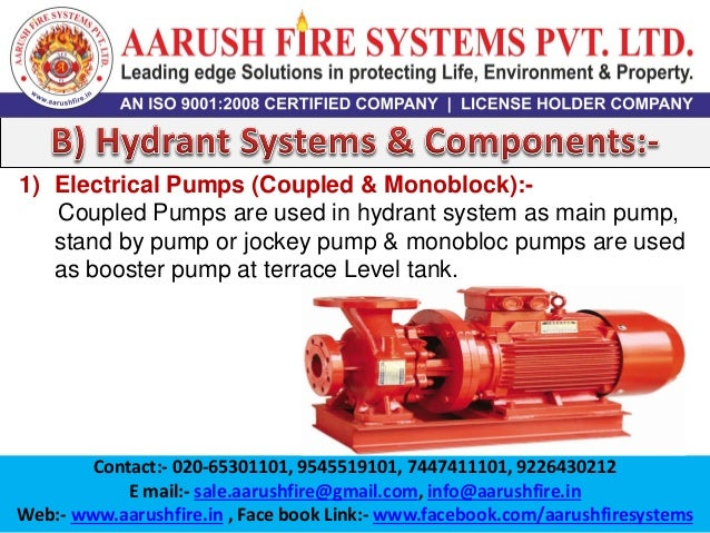 Fire Fighting Systems, Fire Extinguishers, Fire Hydrant, Fire Alarm, …