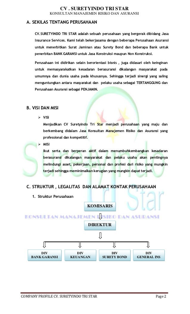 Company Profil Cv Copy Legal