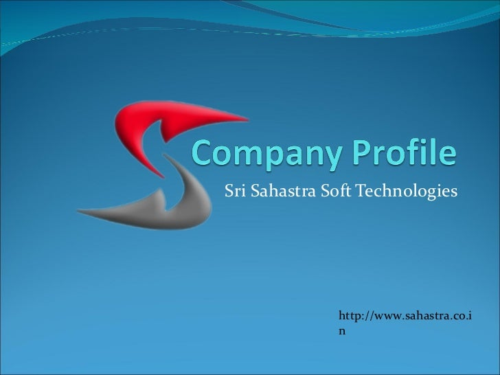 Company profile of sahastra soft technologies for Information technology company profile template