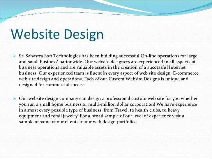 Company profile Of Sahastra Soft Technologies – Sample Company Profile for Small Business