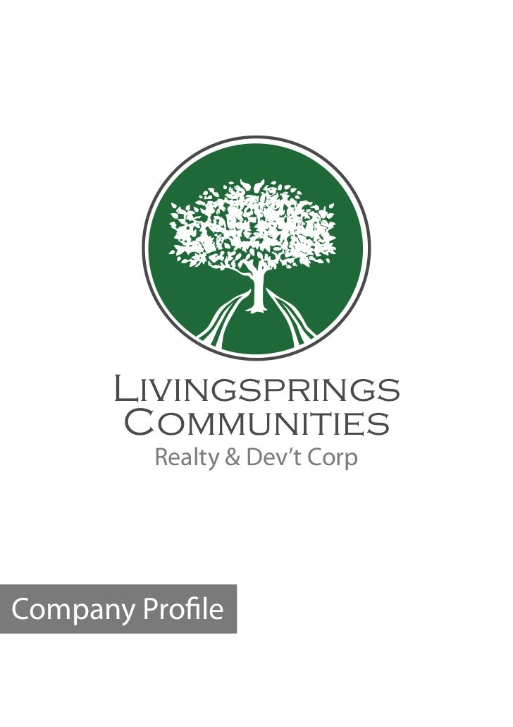 Livingsprings      Communities         Realty & Dev't CorpCompany Pro le