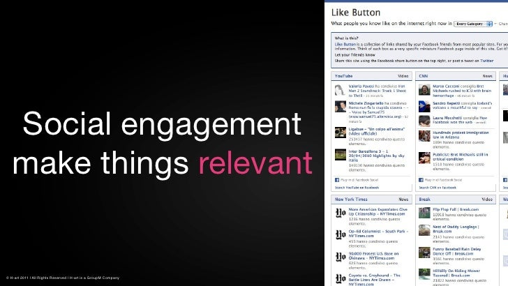 Social engagement   make things relevant© H-art 2011 | All Rights Reserved | H-art is a GroupM Company