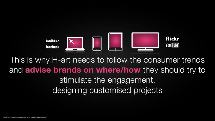 This is why H-art needs to follow the consumer trends         and advise brands on where/how they should try to           ...