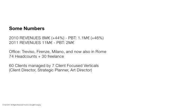 Some Numbers          2010 REVENUES 8M€(+44%) - PBT: 1.1M€ (+46%)          2011 REVENUES 11M€ - PBT: 2M€          Office: ...