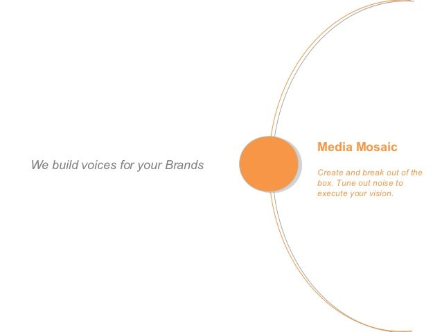 Media MosaicWe build voices for your Brands   Create and break out of the                                  box. Tune out n...