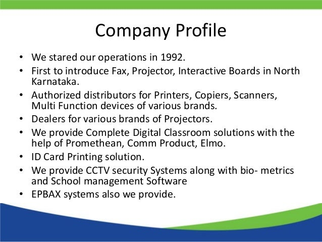 Company profile for Security company profile template