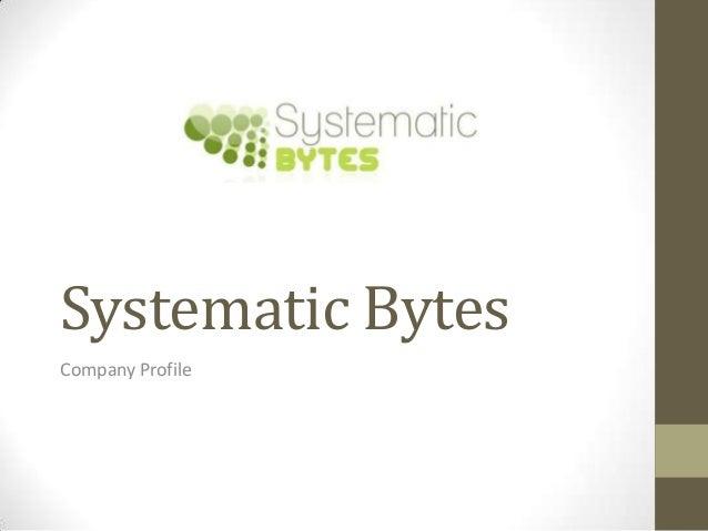 Systematic BytesCompany Profile