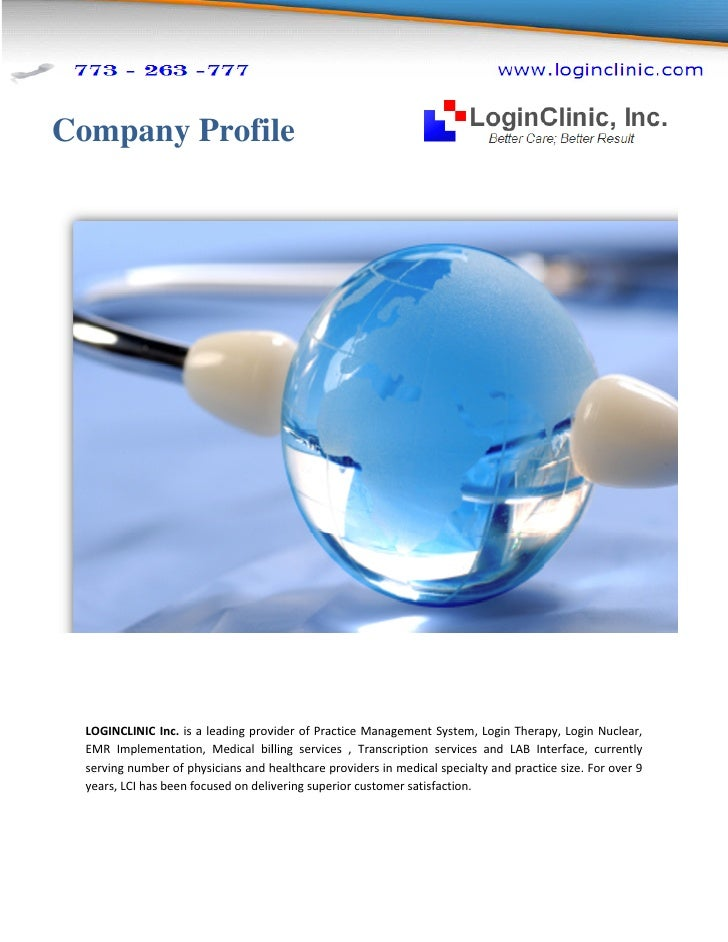 Company Profile       LOGINCLINIC Inc. is a leading prov                                 provider of Practice Management S...