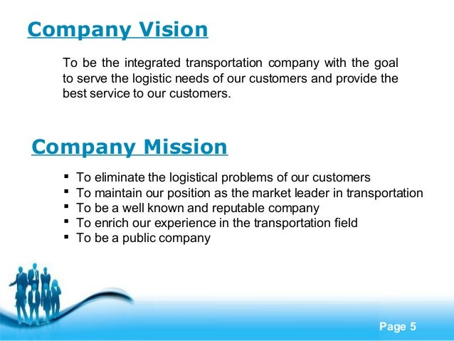 Transport company profile template.