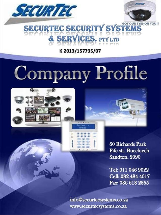 Company profile securtec security systems services for Security company profile template