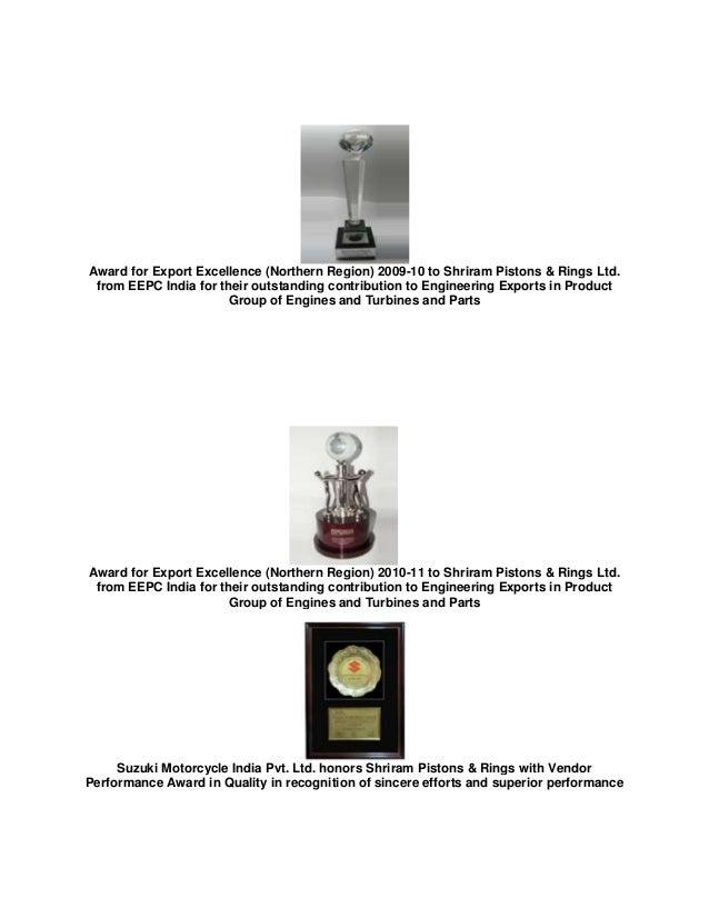 Shriram Pistons And Rings Company Profile