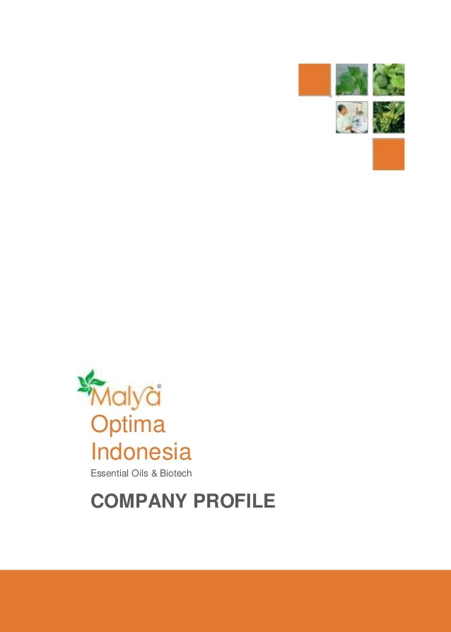 Optima Indonesia Essential Oils & Biotech  COMPANY PROFILE