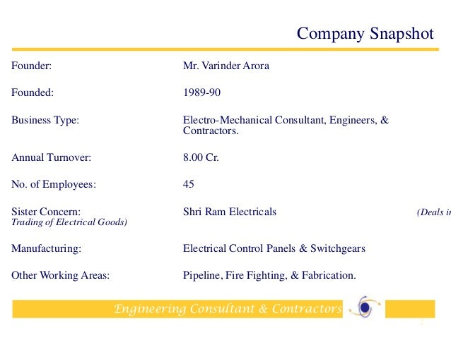 Company Profile-Electrical Contractors