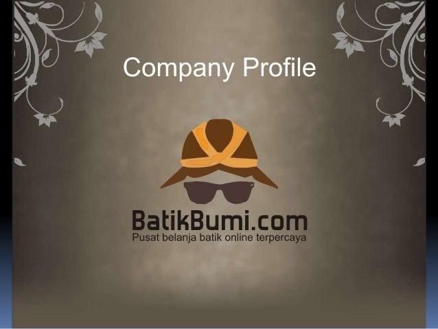 Company profile Batikbumi.com