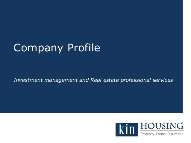Company Profile  Investment management and Real estate professional services