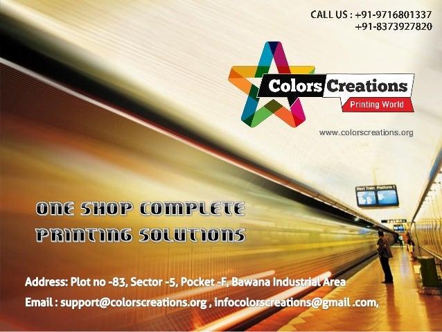 Colors Creations Digital Printing Delhi Flex Printing