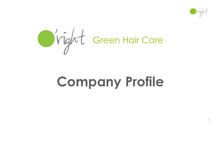 Company Profile Green Hair Care