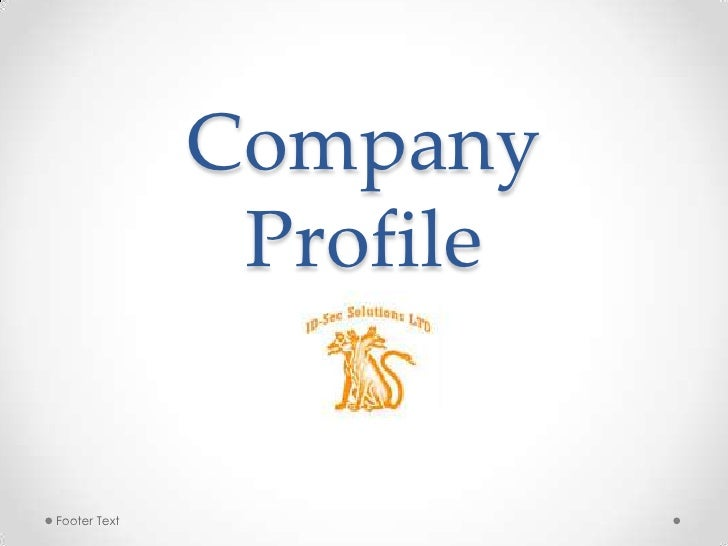 Company Profile<br />Footer Text<br />