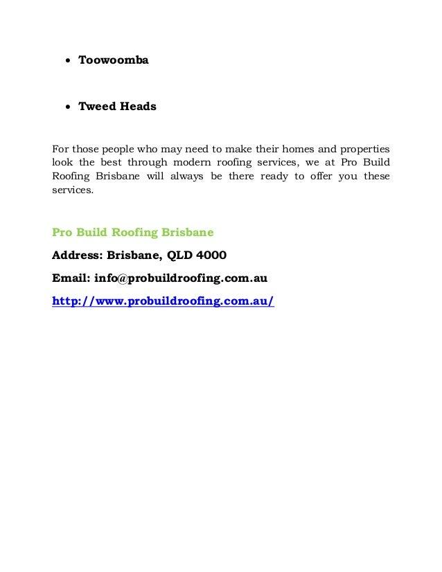 Company profile pro build roofing brisbane