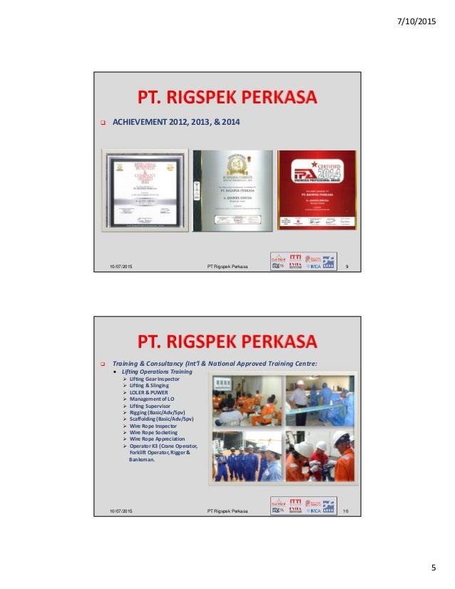 Company profile pt rigspek perkasa