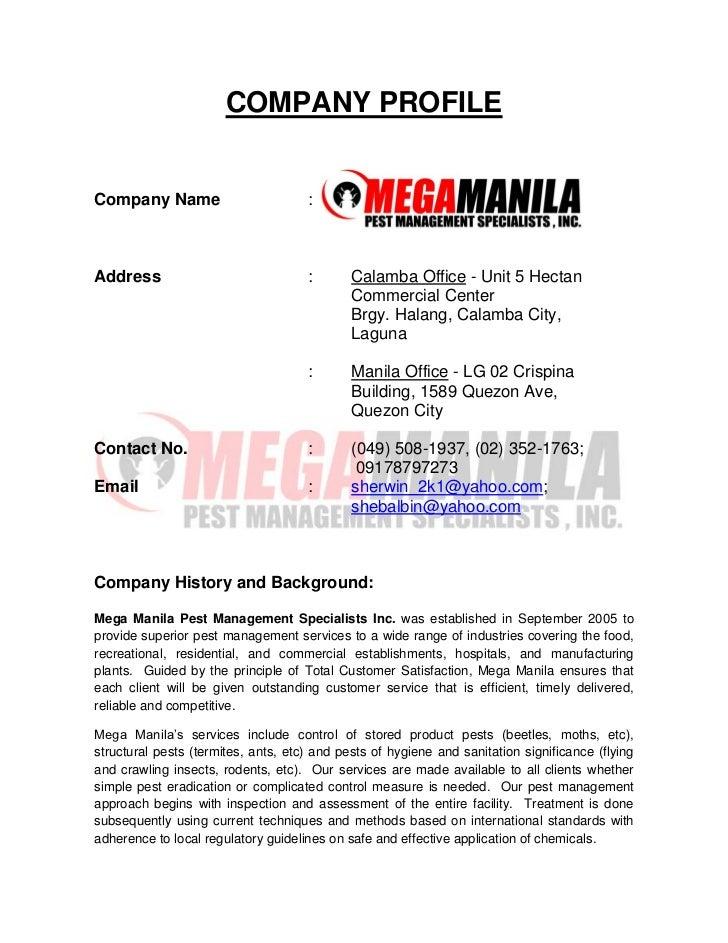 COMPANY PROFILECompany Name                         :Address                              :       Calamba Office - Unit 5 ...