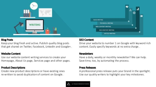 affordable content writing services High quality content every article will be written on scratch before going on computer, with deep research to ensure its reliability and relevancy proofread & checked thoroughly by our quality control division.