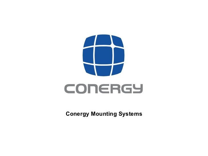 Conergy Mounting Systems
