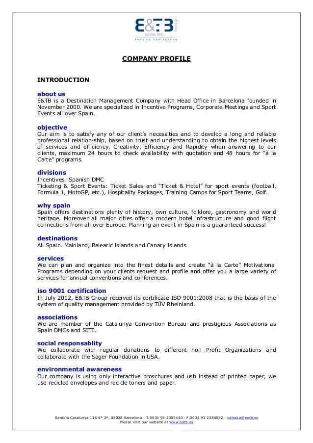 E Amp Tb Group Company Profile English 2013