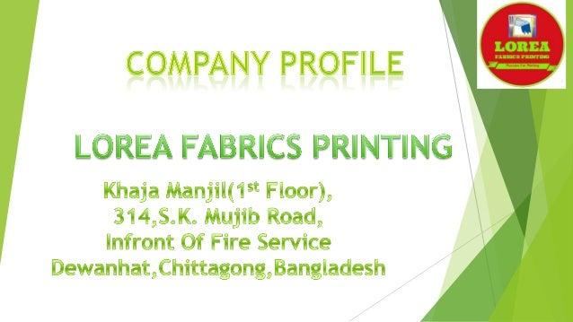 Company profile lorea printing
