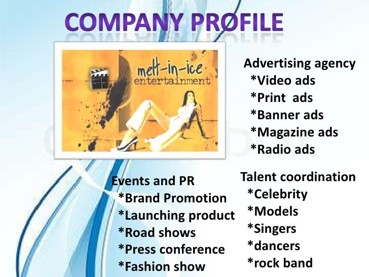 Advertising agency                       *Video ads                       *Print ads                       *Banner ads    ...